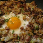 ​Skillet Parmesan Chicken or Turkey Hash