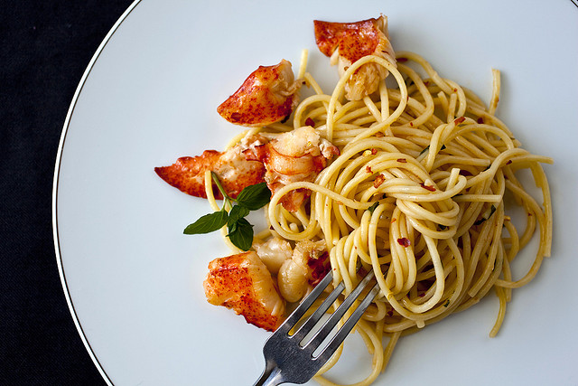 Truffle Butter Pasta truffle butter lobster with linguine · faith middleton's food schmooze