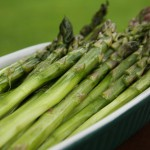 Spring Asparagus Tossed with Goat Cheese, Truffle Oil & Lemon
