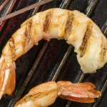 Top-Rated: Easy Grilled Shrimp and Basil Wrapped in Prosciutto with Caramelized Fresh Peaches