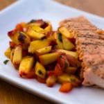 Grilled Salmon Is Magic with Fresh Peach-Jalapeño Salsa
