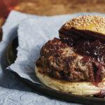 Burger with onion jam (c) Lauren Volo
