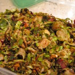 Bacon-Cranberry Brussels Sprout Slaw