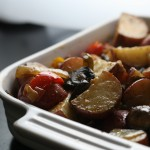 Rustic Roasted Pearl Onions and Potatoes