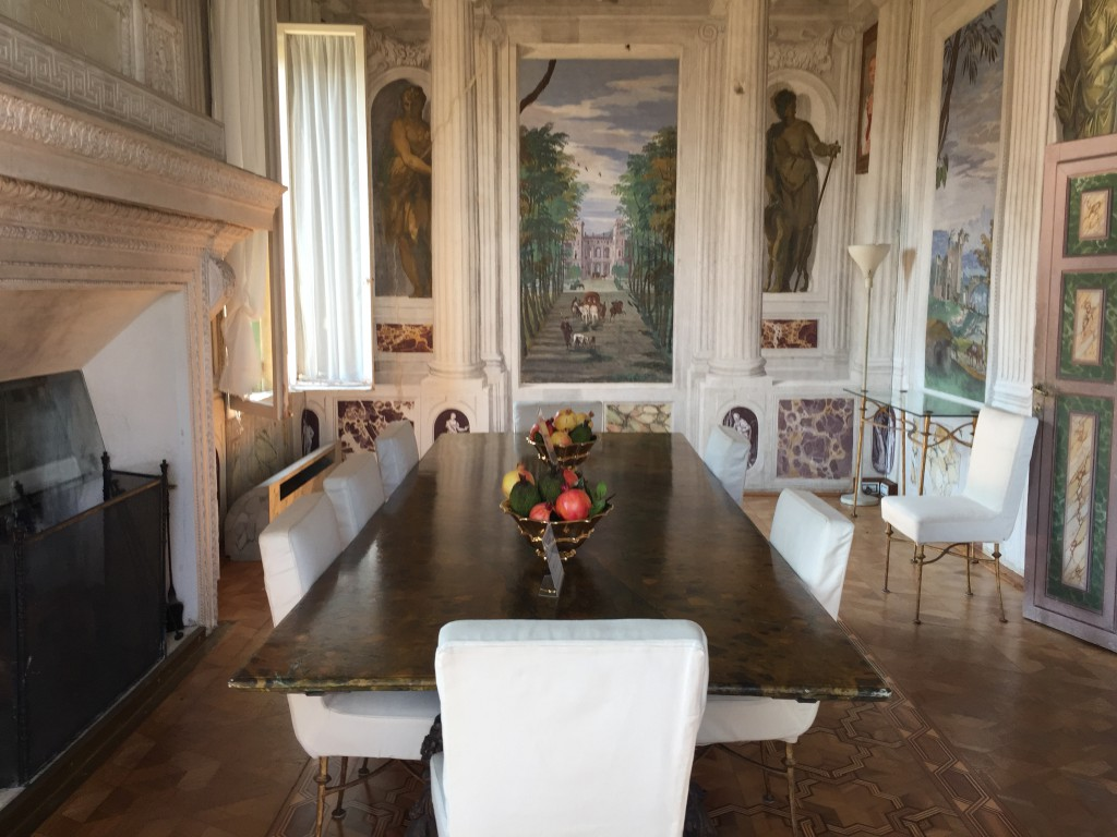 Dining Room at Villa Barbaro
