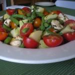 Tomato, Vegetable, and Mozzarella Salad