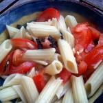 Quick Fresh Tomato & Arugula Pasta