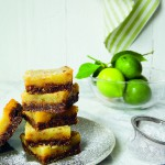 Key Lime Bars with Tropical Nut, Gingersnap Crust