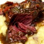 Lidia's Amazing Beef in Barolo, Latkes (Potato Pancakes), Joyful Party Punch