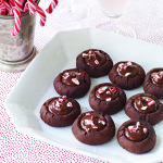 Bittersweet Chocolate Peppermint Thumbprints