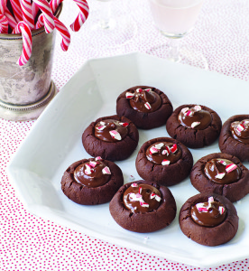 Bittersweet Chocolate Peppermint Thumbprints