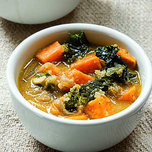 Quinoa and sweet potato soup from Saveur