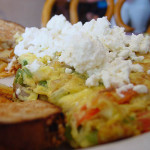 Faith's Greek Salad Omelette with Blistered Tomatoes & Fresh Avocado