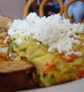 Faith's Greek Salad Omelette