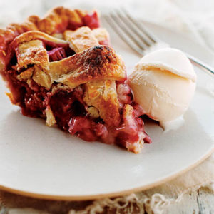 Strawberry Rhubarb Pie from Mad Hungry: Feeding Men & Boys by Lucinda Scala Quinn (Artisan Books). Copyright © 2009. Photographs by Mikkel Vang.