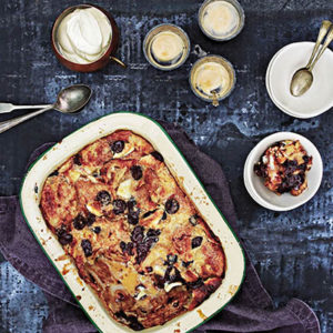 BLACK AND WHITE CROISSANT BREAD PUDDING_post