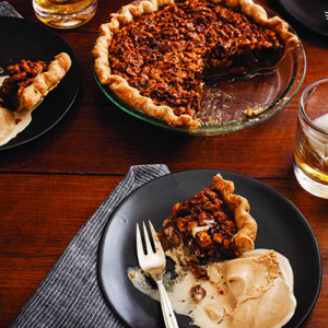 Bacon Maple Walnut Pie with Malt Frozen Custard_ credit Eric Medsker_post