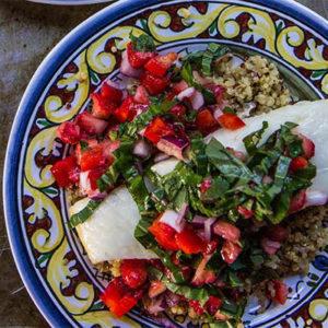 Pure Delicious_halibut strawberry basil salsa_recipe