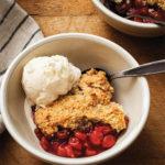 Sour Cherry Cobbler and Cannoli Cream Ice Cream