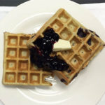 Chris's Blueberry Waffles with Blueberry Compote