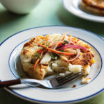 Lazy Cheese Arepas with Slaw