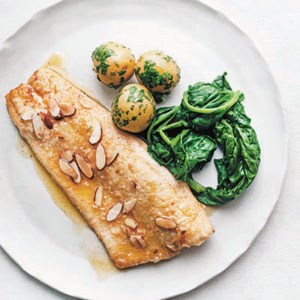 Trout with Almonds. Excerpted from Mad Hungry Family by Lucinda Scala Quinn (Artisan Books). Copyright © 2016. Photographs by Jonathan Lovekin.