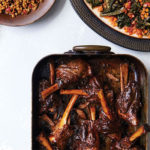 Lamb Shanks in Red Wine with Creamy Eggplant