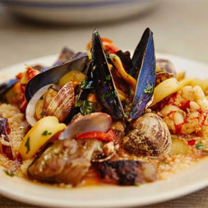 saveur_sicilian-seafood-stew-with-almonds-and-couscous_william-hereford_recipe