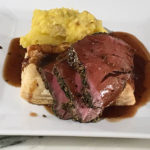 Provençal Herb-Crusted Beef Tenderloin with Puff Pastry and Red Wine Sauce