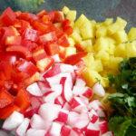 LIGHT APPETIZER: Faith's Shrimp & Pineapple Salsa Lettuce Wraps