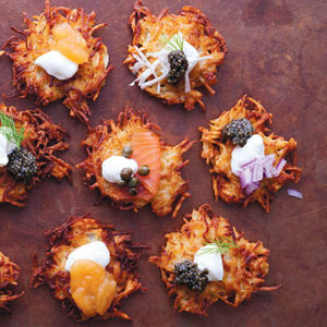 latke recipe Excerpted from How to Celebrate Everything by Jenny Rosenstrach. Published by Ballantine Books, a division of Penguin Random House. ©2016 Jenny Rosenstrach, photography by Chelsea Cavanaugh.