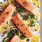 Skinnytaste Slow Cooker Poached Salmon with Meyer Lemon, Capers, and Parsley