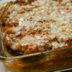 Tube Polenta Bake with Sausage, Red Sauce & Cheese