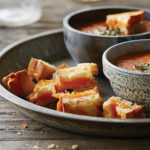 Kathy Gunst's Grilled-Cheese Croutons to Go with Tomato Soup
