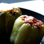 Faith's Easy Chicken Cacciatore Stuffed Peppers