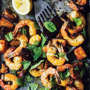 Melissa Clark_Dinner_Spicy Roasted Shrimp recipe, image copyright © 2017 by Eric Wolfinger
