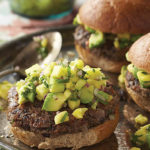 Caribbean Black Bean Burger recipe, Photography copyright 2016 by Dan Goldberg