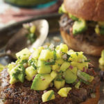 Pineapple Avocado Salsa for Caribbean Black Bean Burgers