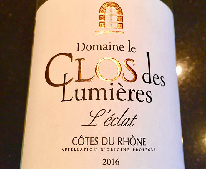 Clos des Lumieres white wine