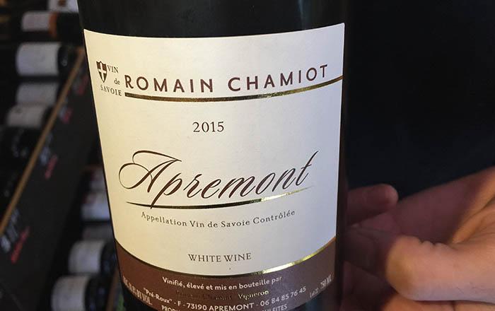 Apremont wine