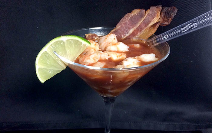 Food Schmooze Shrimp Cocktail Bloody Mary