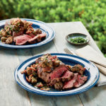 Beef Tenderloin Steaks with Seared Mushrooms and Red Wine Vinaigrette