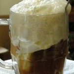 beer and chocolate ice cream floats