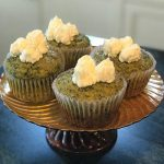 Kale Cupcakes with Orange Icing