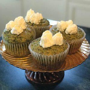 Kale Cupcakes with Orange Icing