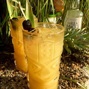 The Faith In Tiki cocktail named in honor of WNPR's Faith Middleton for National Rum Day 2017