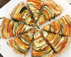 Zucchini Carrot Tart