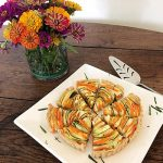 White Gate Farm's Zucchini and Carrot Ribbon Tart with Ricotta