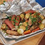 Jacques Pépin's Sausage, Potatoes, Onions, and Mushrooms en Papillote