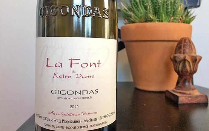 La Font de Notre Dame Gigondas red wine